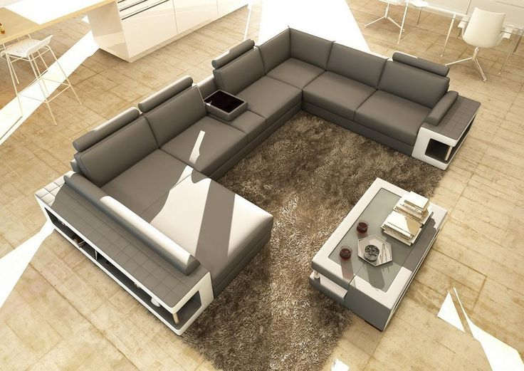 17 Best Ideas About White Leather Sectionals On Pinterest