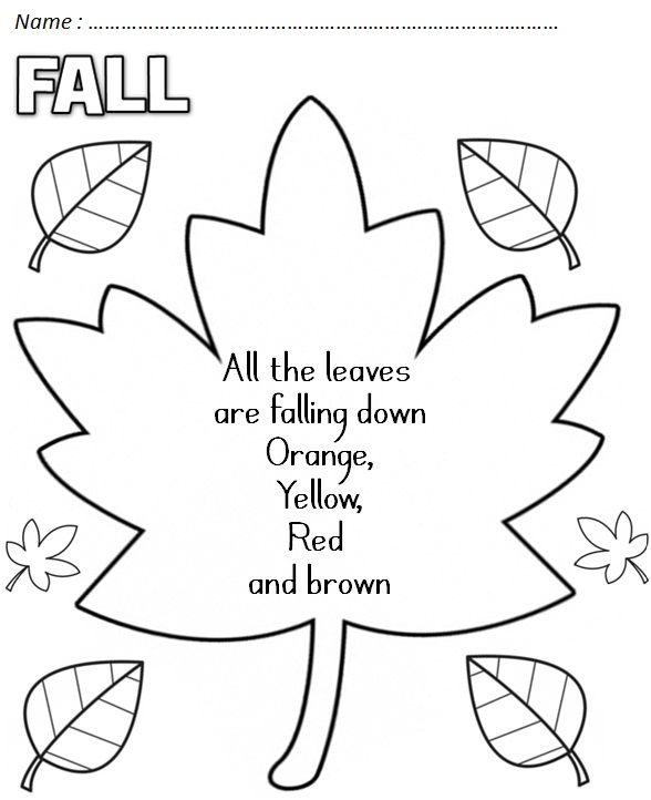33 best images about Fall poetry for kids. on Pinterest