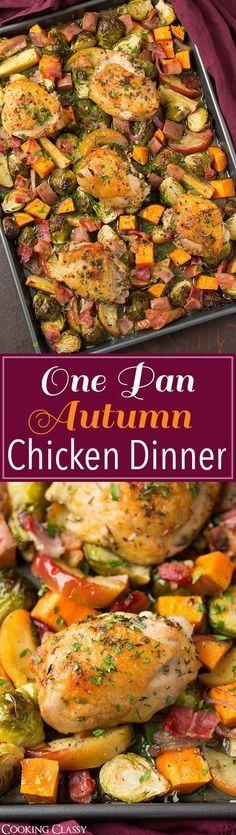 One Pan Autumn Chicken Dinner
