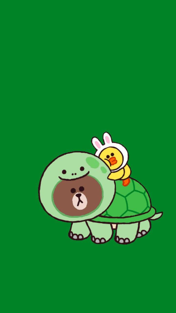 Cute Halloween Iphone 5 Wallpaper Brown Turtle Blue Line Character Pinterest Turtles