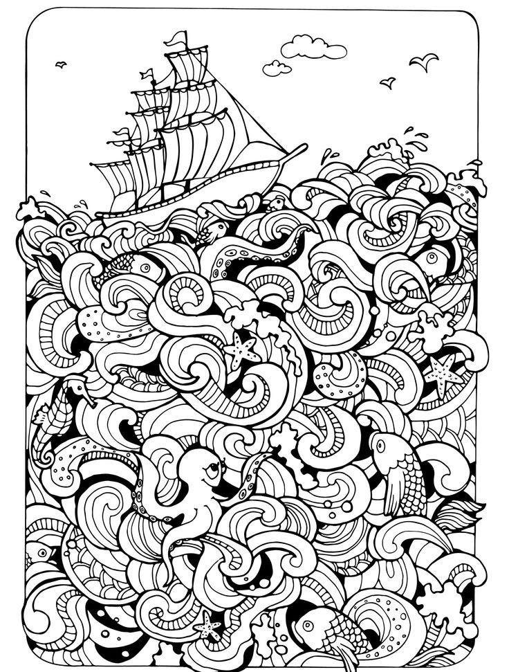 Boats and Ships coloring pages » Free & Printable » Boat coloring ... | 971x736
