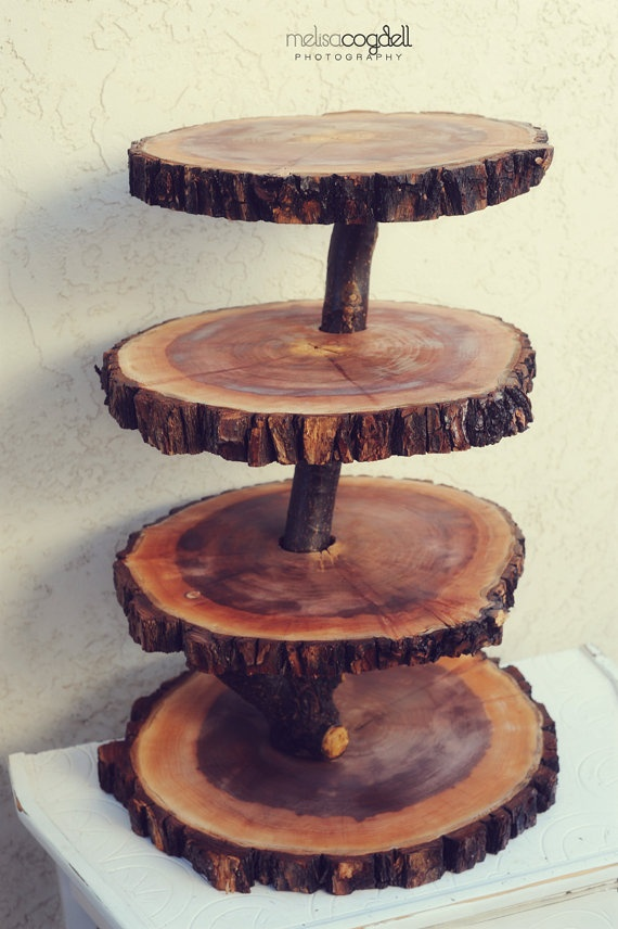 17 Best Images About Wood Cake Stand On Pinterest Log