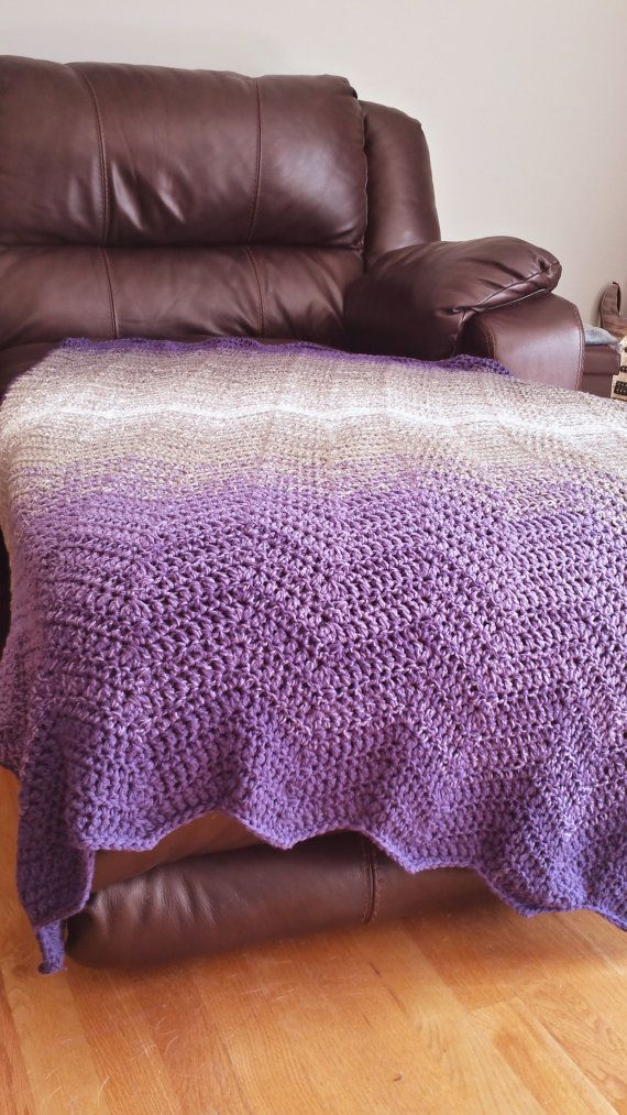 Chevron Ombre and Crochet afghans on Pinterest