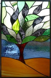 Stained Glass Window - Family Tree - Panel Suncatcher ...