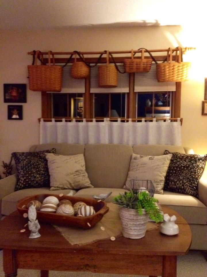 living room valances ideas best white paint for dark longaberger valance - smaller baskets maybe? think i will ...