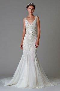 78+ images about Beaded Wedding Dresses on Pinterest ...