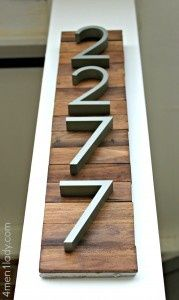 house numbers on wood  Barn wood & maybe horizontal