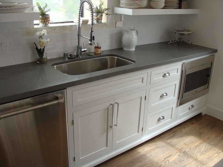 black pull handles kitchen cabinets lowes ideas shaker style and concrete gray quartz countertop ...