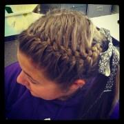 ideas softball braids