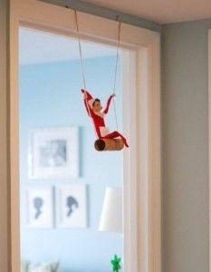 Elf on the Shelf ideas . . . a must do for tomorrow nights mischief! So cute