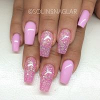 25+ best ideas about Pink Glitter Nails on Pinterest ...