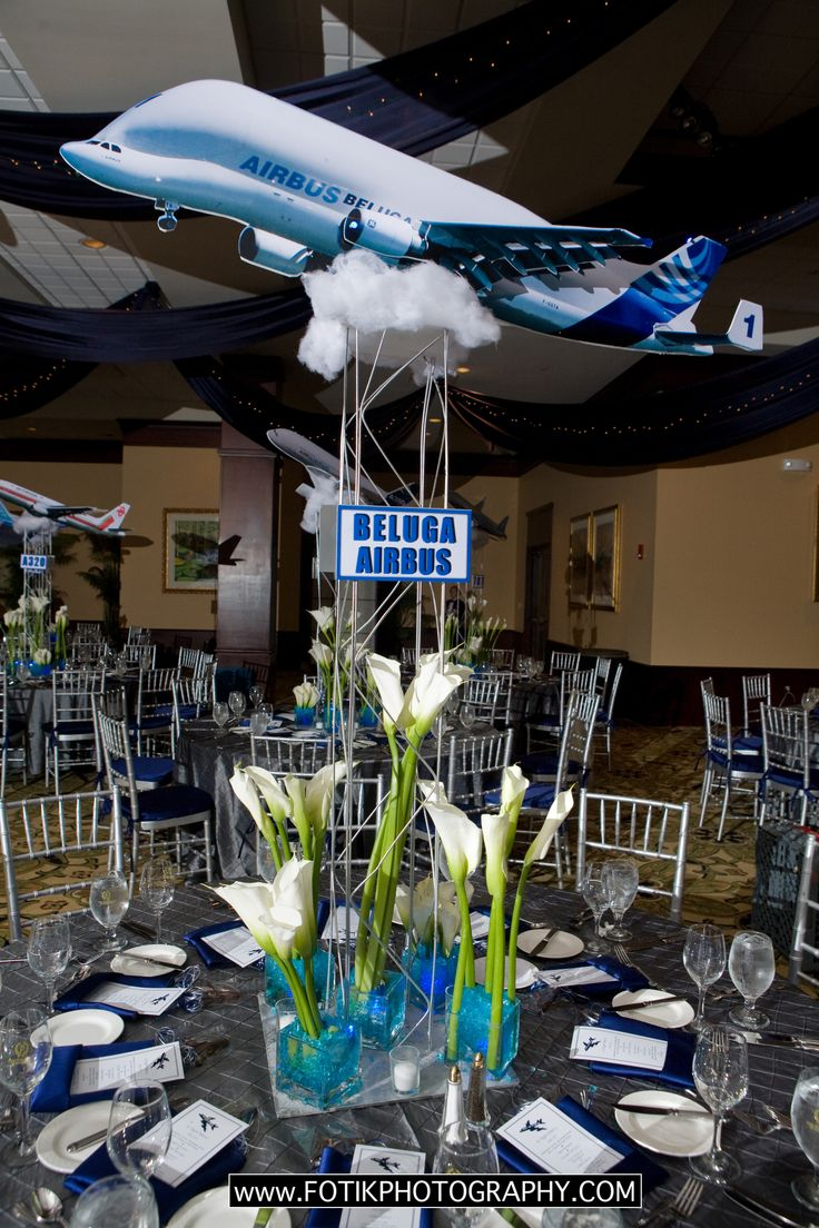 Aviation Inspired Centerpieces Airplanes Aviation