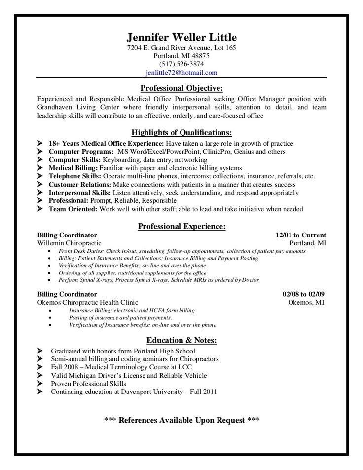 Medical Billing Resume Examples