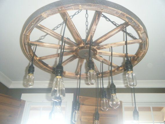 light fixture for kitchen tile murals the wheel wagon chandelier with edison bulbs by ...