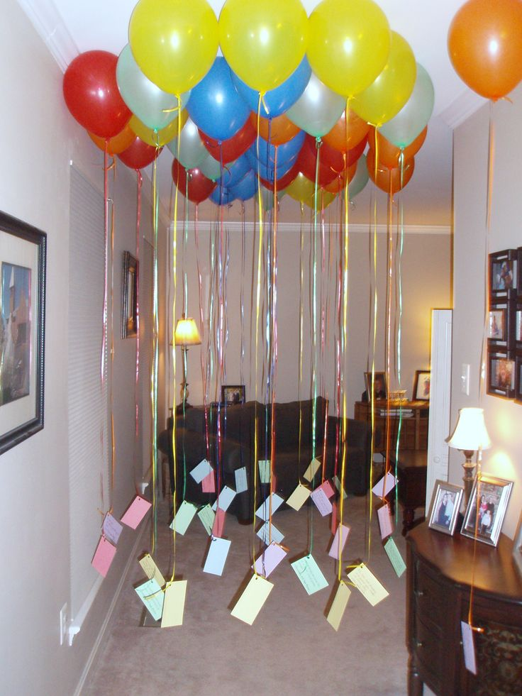 Fill Your Kid's Bedroom With Balloons The Night Before