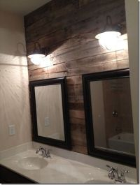 25+ best ideas about Pallet wall bathroom on Pinterest