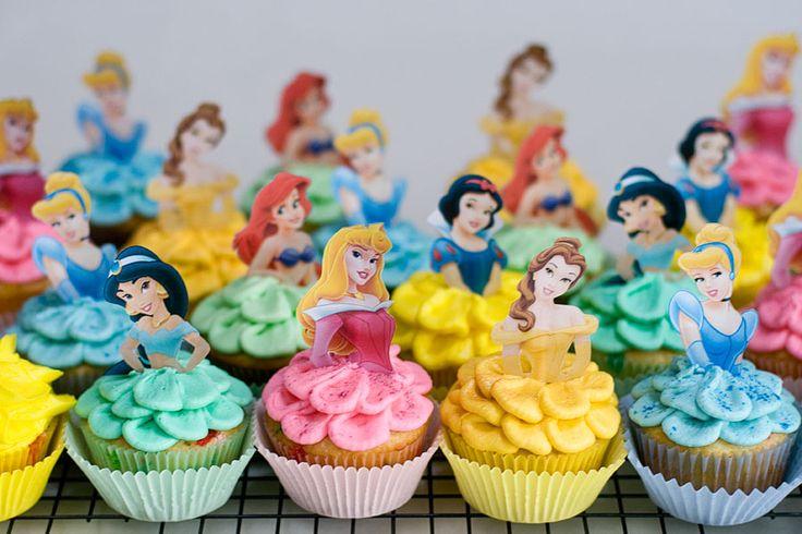 Disney Princess Cupcakes for miss kensleys bday