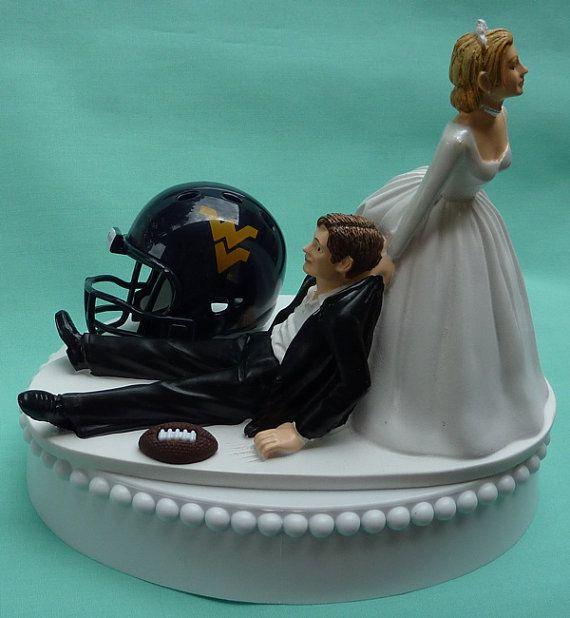 Wedding Cake Topper West Virginia University Mountaineers
