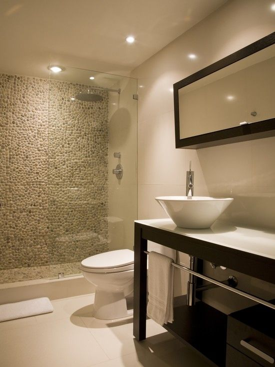 Spaces Shower With Pebble Tiles Design Pictures Remodel Decor and Ideas  page 19  Bathrooms