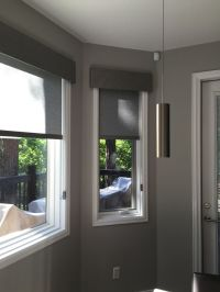 Hunter Douglas Designer Roller Shades with Fabric Covered ...