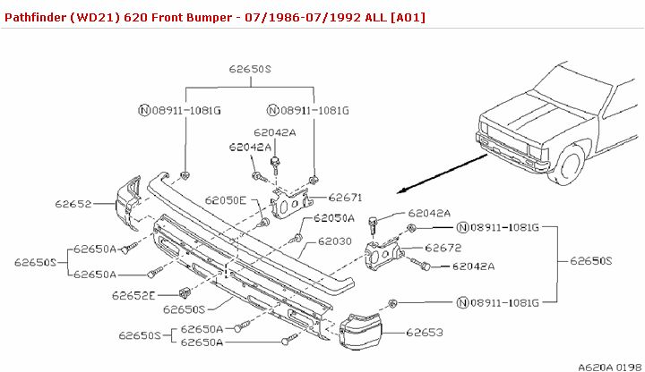620 Front Bumper :: Body(Front,Roof & Floor) :: Genuine