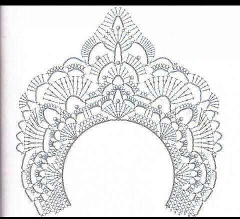 17 Best images about crochet lace collars free pattern on