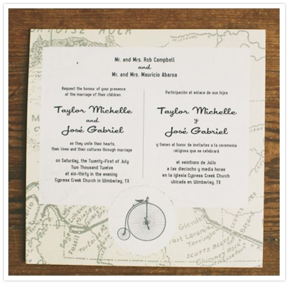 bilingual invitations We need these But two mini sets in