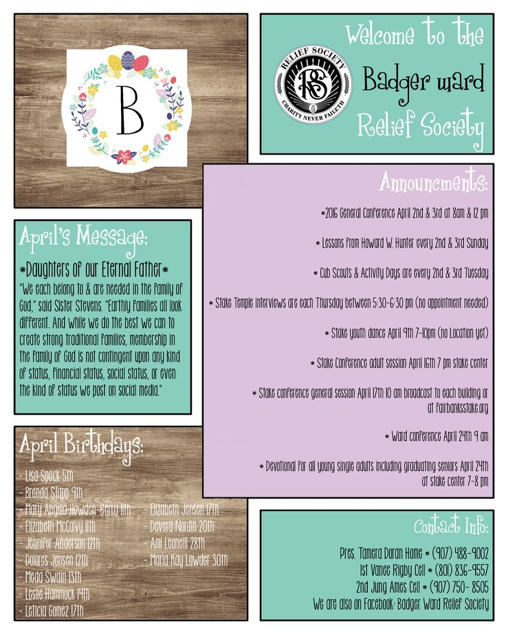 free april newsletter template