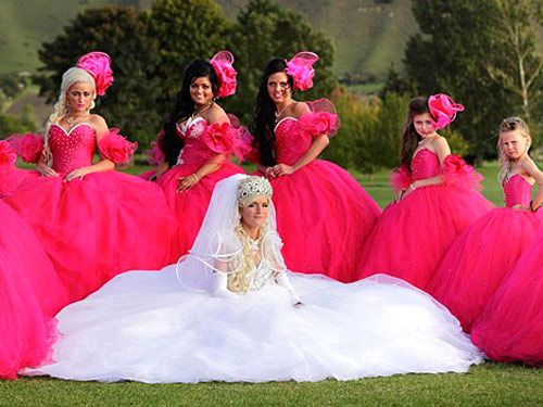 17 Best Images About Ugly Bridesmaids Dresses On Pinterest