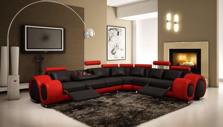 4087 modern bonded leather sectional sofa with recliners deconstructed shelter arm review 17 best ideas about red on pinterest | decor ...