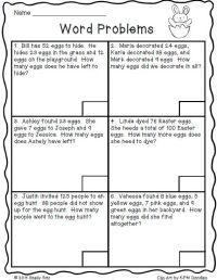 2nd Grade  2 Step Word Problems Worksheets 2nd Grade ...