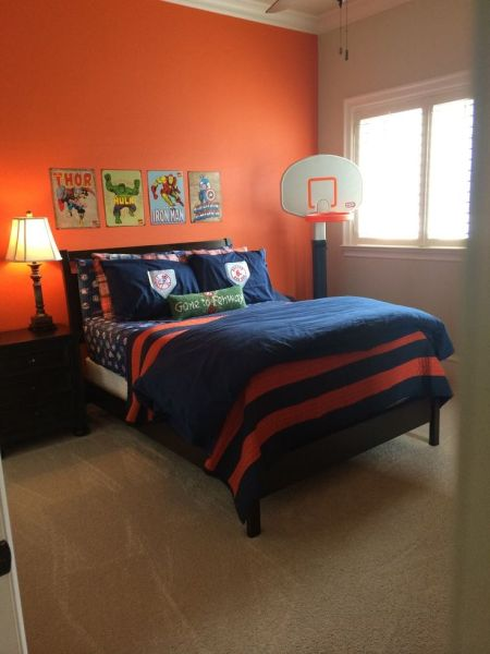 sunset orange for accent wall bedroom Best 25+ Orange accent walls ideas on Pinterest | Paint