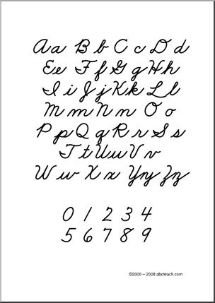 17 Best ideas about Cursive Letters Chart on Pinterest