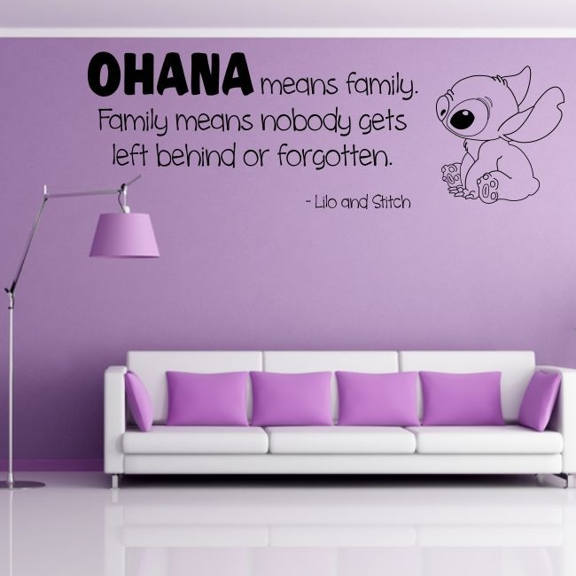 Details About OHANA Wall Quote Family Lilo Stitch Decal