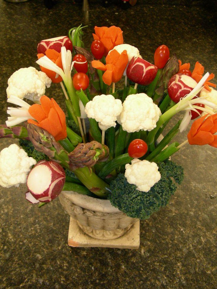 17 Best Images About Vegetable Bouquet On Pinterest