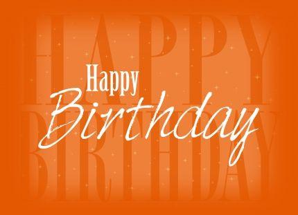 Images Of Orange Colored Happy Birthday Happy Birthday