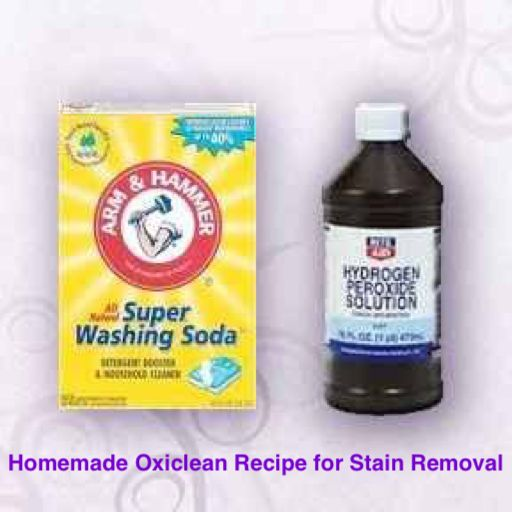 'Homemade Oxiclean Recipe for Stain Removal: 1 cup water