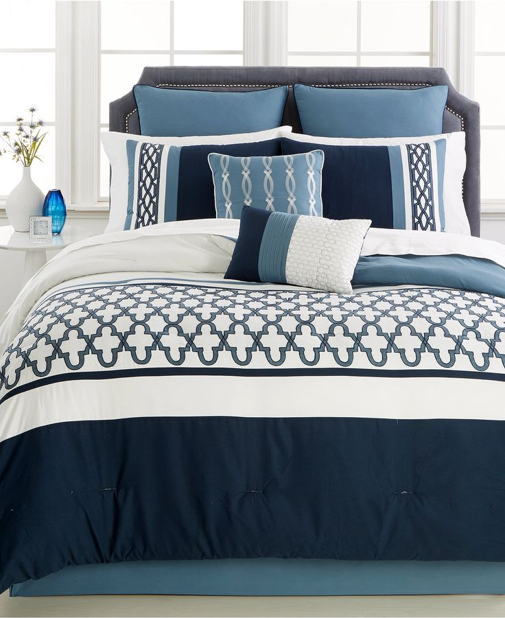 1000 ideas about Blue Comforter Sets on Pinterest  Navy