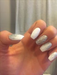 25+ best ideas about White And Silver Nails on Pinterest ...