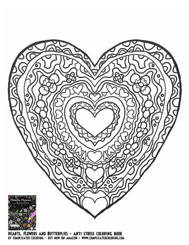 17 Best images about ♥Adult Colouring~Hearts~Love