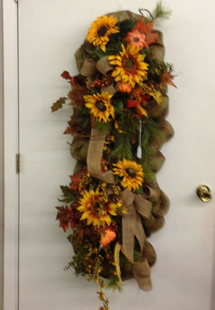 Fall Swag Silk And Craft Creations Pinterest Fall