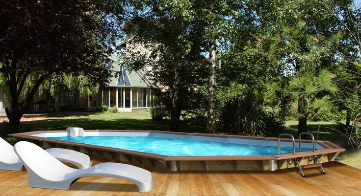 Soldes Piscine Carrefour achat Piscine bois Premium WATER CLIP  L 890 x l 420 x H 129 cm
