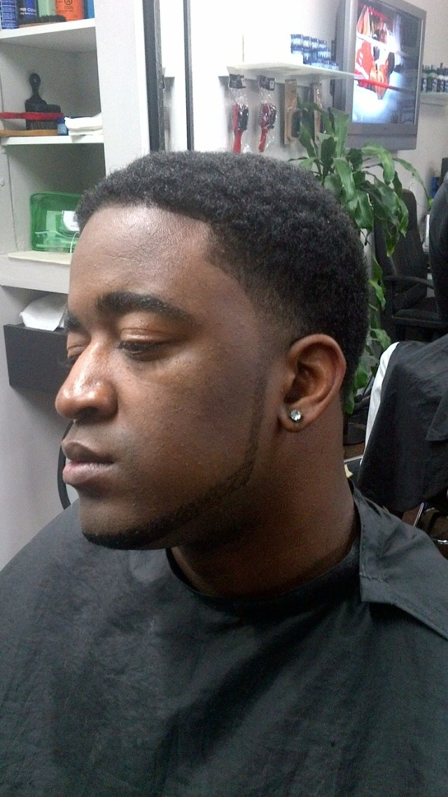 Afro Taper Fade with Beard Lining RYLC Barber Styling