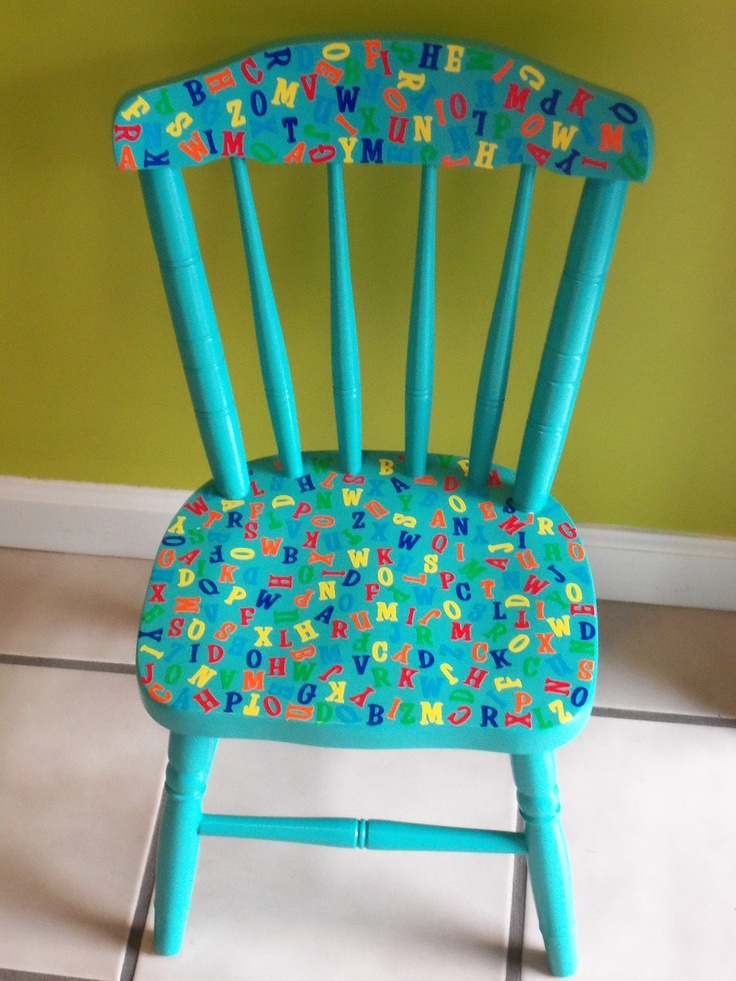 turquoise patio chairs black velvet chair covers 17 best images about painted kids furniture on pinterest | pink high chair, rocking and ...