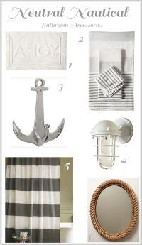 Neutral Nautical Bathroom Accessories | Bathrooms | Pinterest