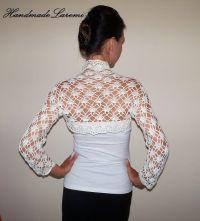 Crochet Bolero Shrug / Wedding Bolero Jacket / Cashmere ...
