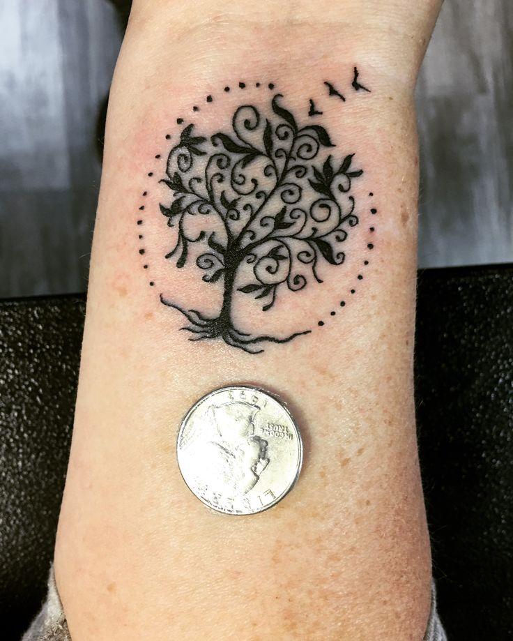 Henna Tree Wrists Designs Tattoos
