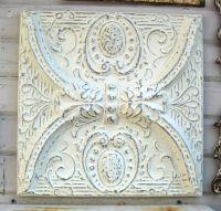Antique tin ceiling tile. Circa 1910.