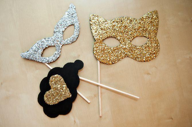 DIY glitter masks for your next masquerade ball