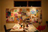 large cork board wall? | kids' art space | Pinterest ...
